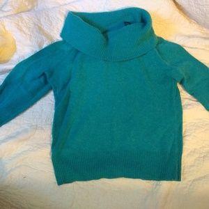 Cowl neck cashmere sweater, sz small